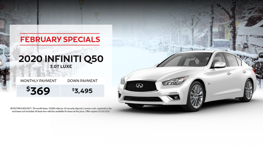 A New 2020 INFINITI Q50 3.0T LUXE  AWD 369