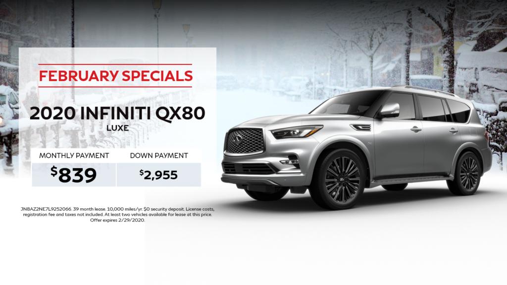 2020 INFINITI QX80 LUXE - $839  4WD