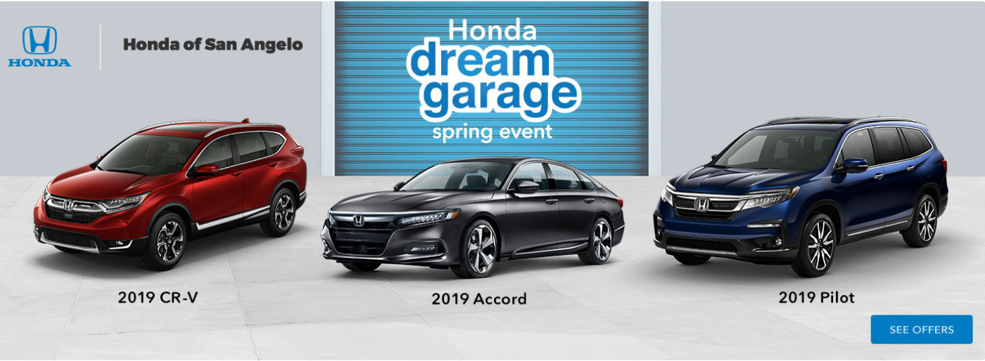 Honda of San Angelo Dream Garage Spring Event