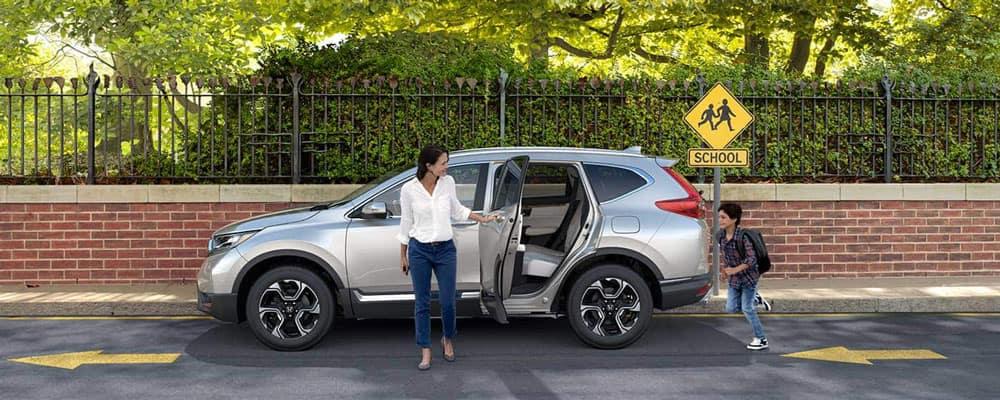 2019 Honda CR-V Parked Outside School