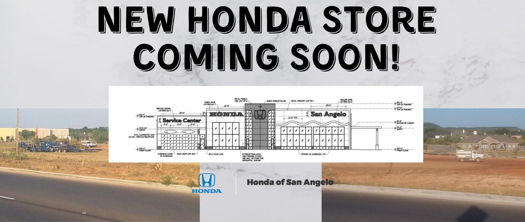 New Honda Store Coming Soon