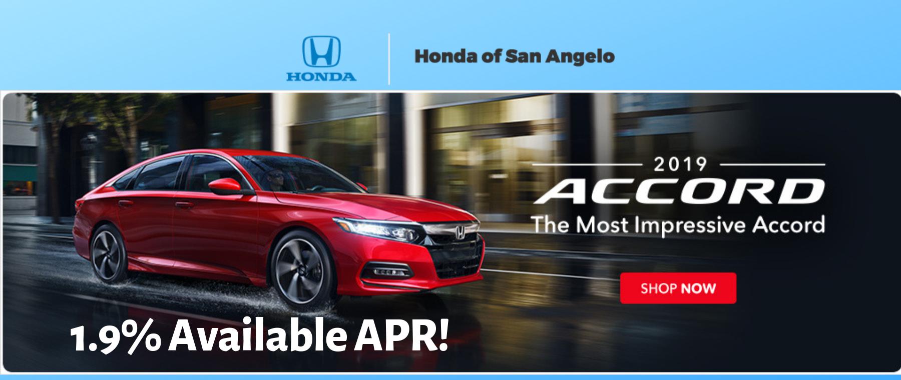 2019 Honda Accord 1.9% APR