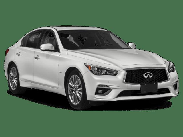 2019 INFINITI Q50 in white