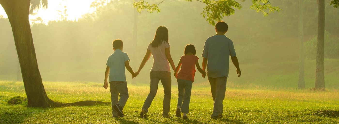 family outdoor quality time