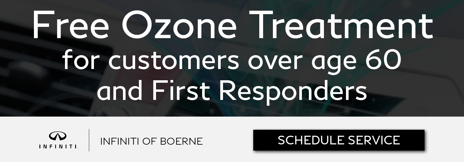 Free Ozone Treatment for customers over age 60 and First Responders. Click to schedule service
