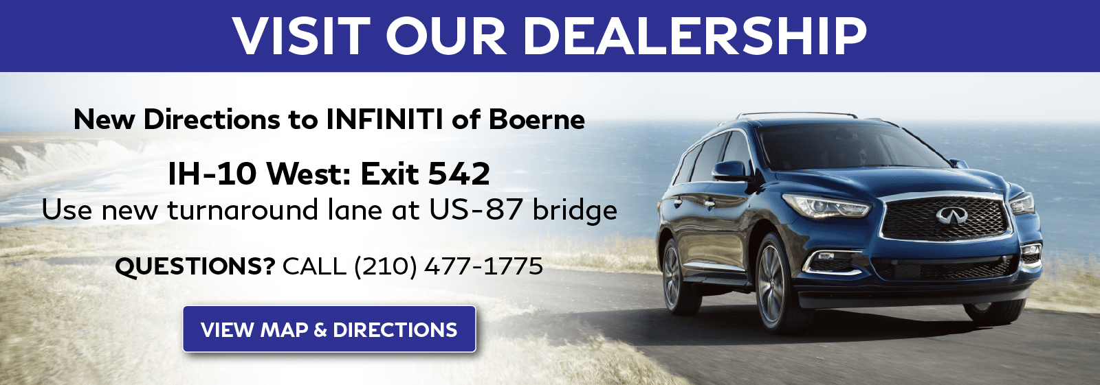 New Directions to INFINITI of Boerne