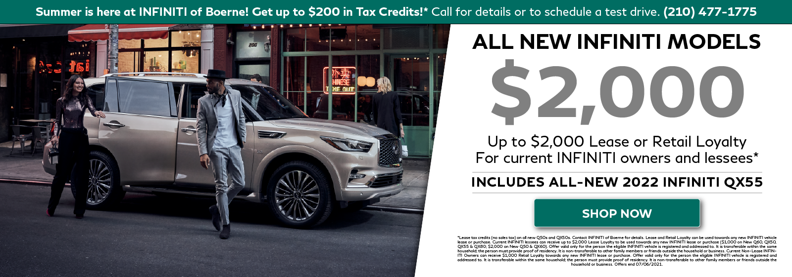 Loyalty offers available all new 2020-2022 INFINITI models. Click to shop now.