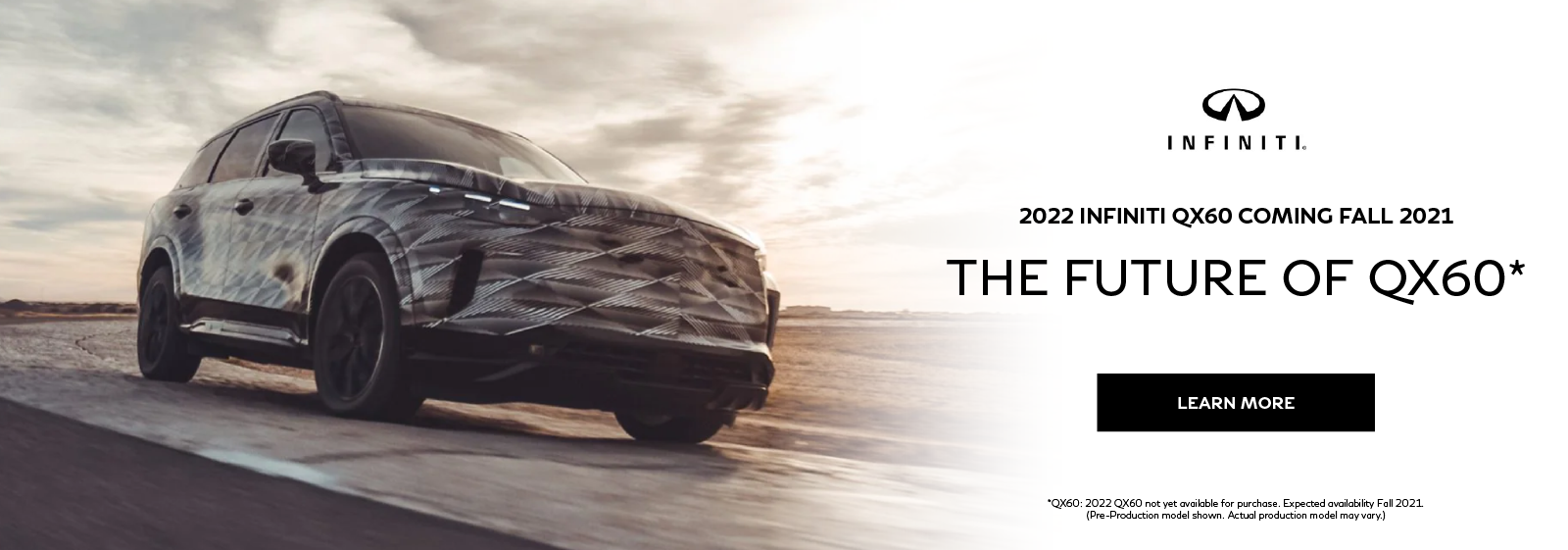 2022 INFINITI QX60. Be the first to know.