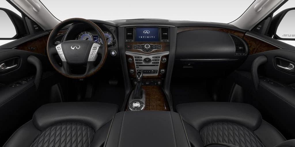 2019 INFINITI QX80 interior graphite leather