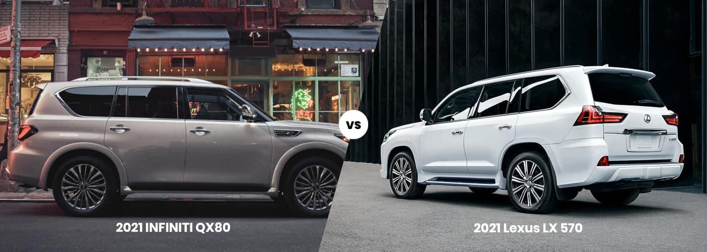 2021 INFINITI QX80 vs. 2021 Lexus LX 570