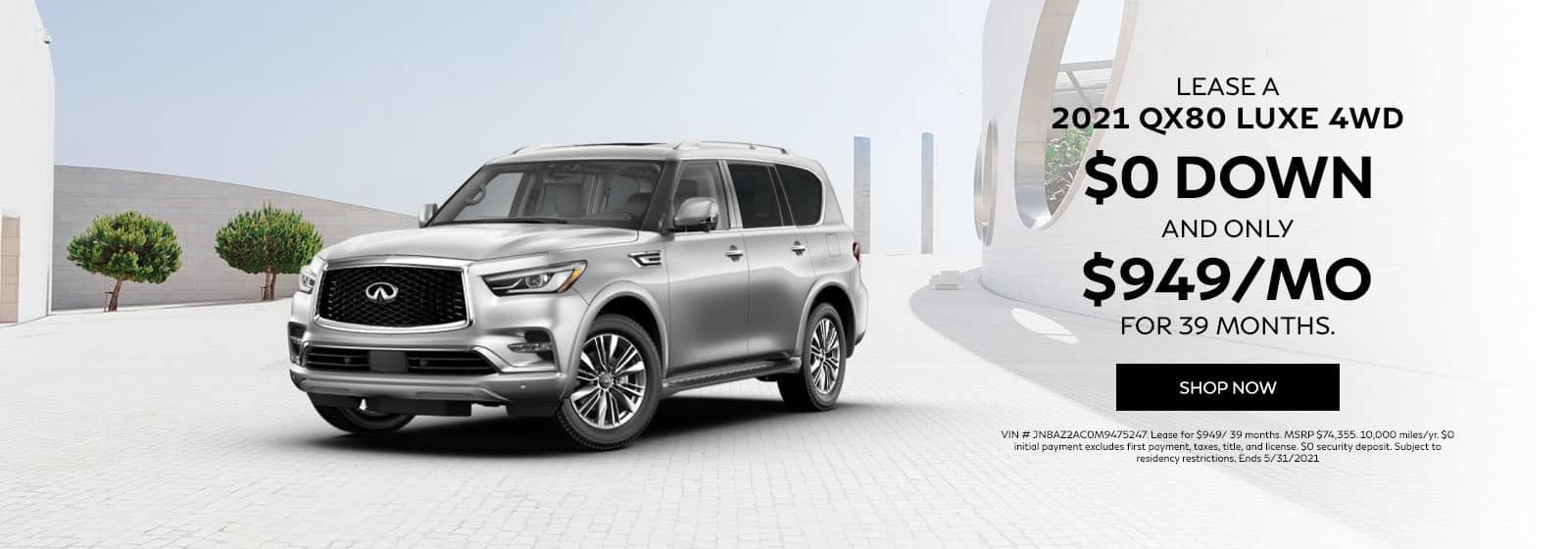 Lease a 2021 QX80 LUXE 4WD