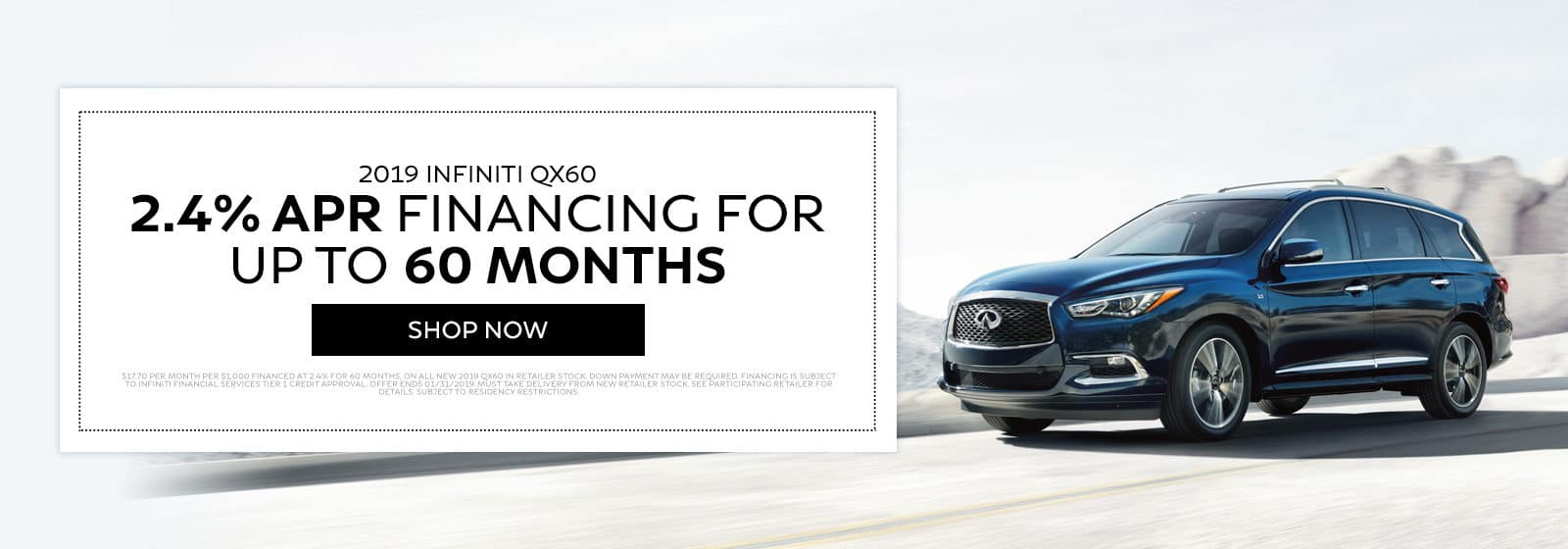 2019 INFINITI QX60 - 2.4% APR financing for up to 60 months - Shop Now