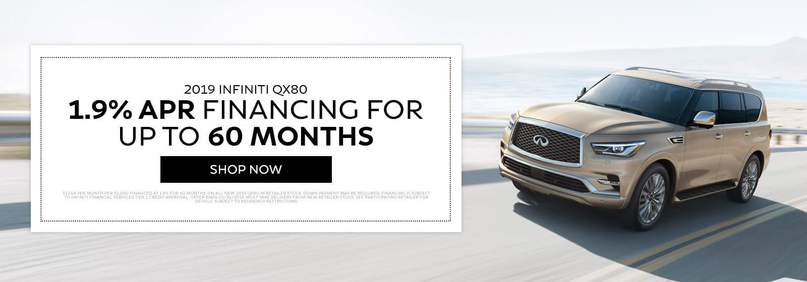 2019 INFINITI QX80 - 1.9% APR financing for up to 60 months - Shop Now