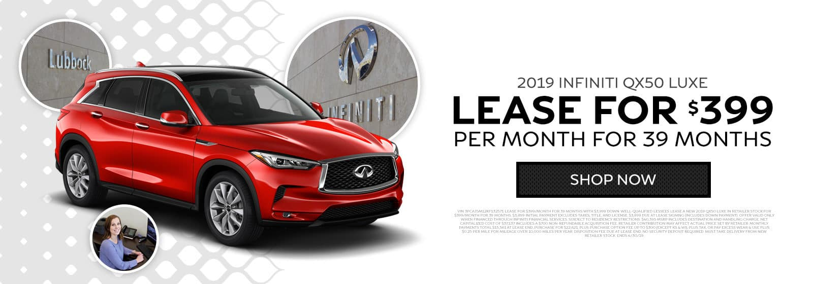 2019 INFINITI QX50 Luxe - Lease for $399 per month for 39 months - Shop now