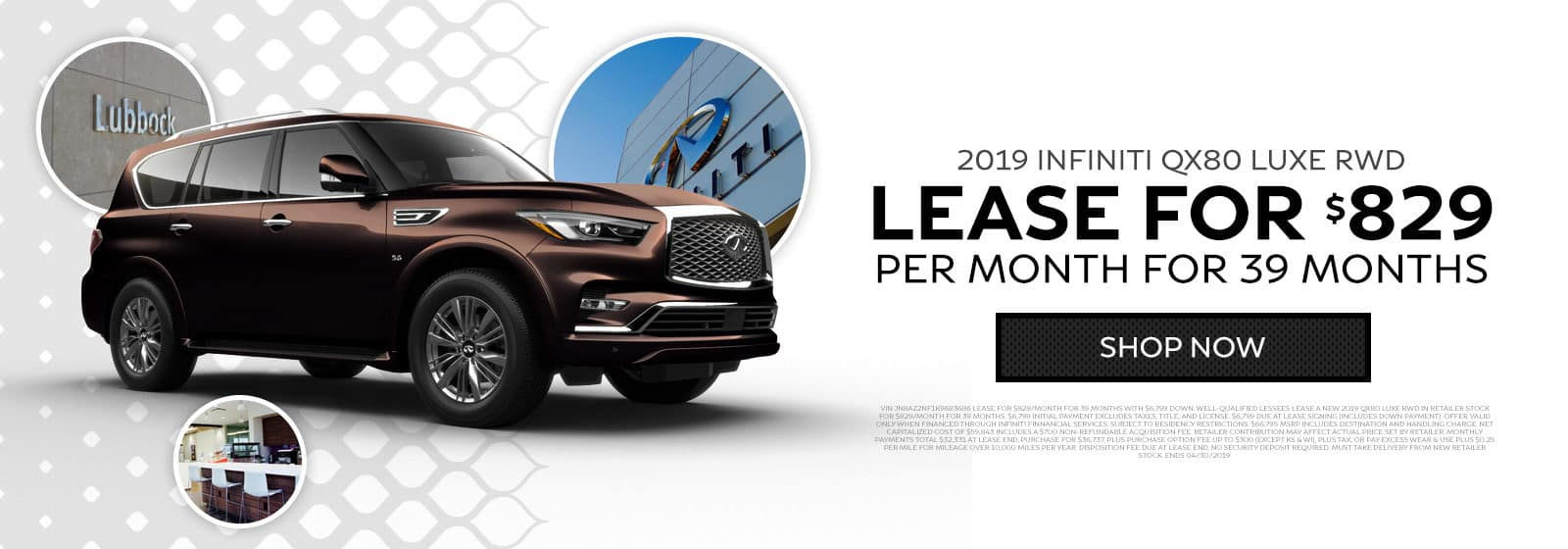 2019 INFINITI QX80 Luxe RWD - Lease for $829 per month for 39 months - Shop now