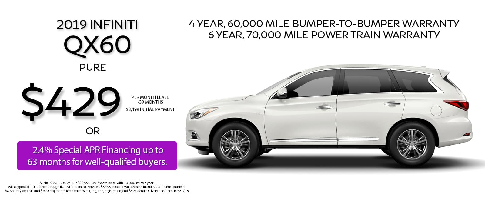 2019 QX60 Lease Offer