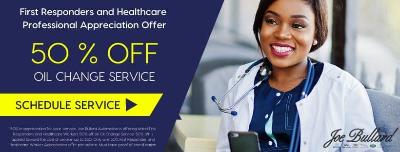 First Responders and Healthcare Professional Appreciation Offer 50% off oil change service