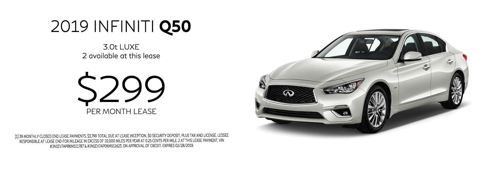 Q50 LUXE OFFER