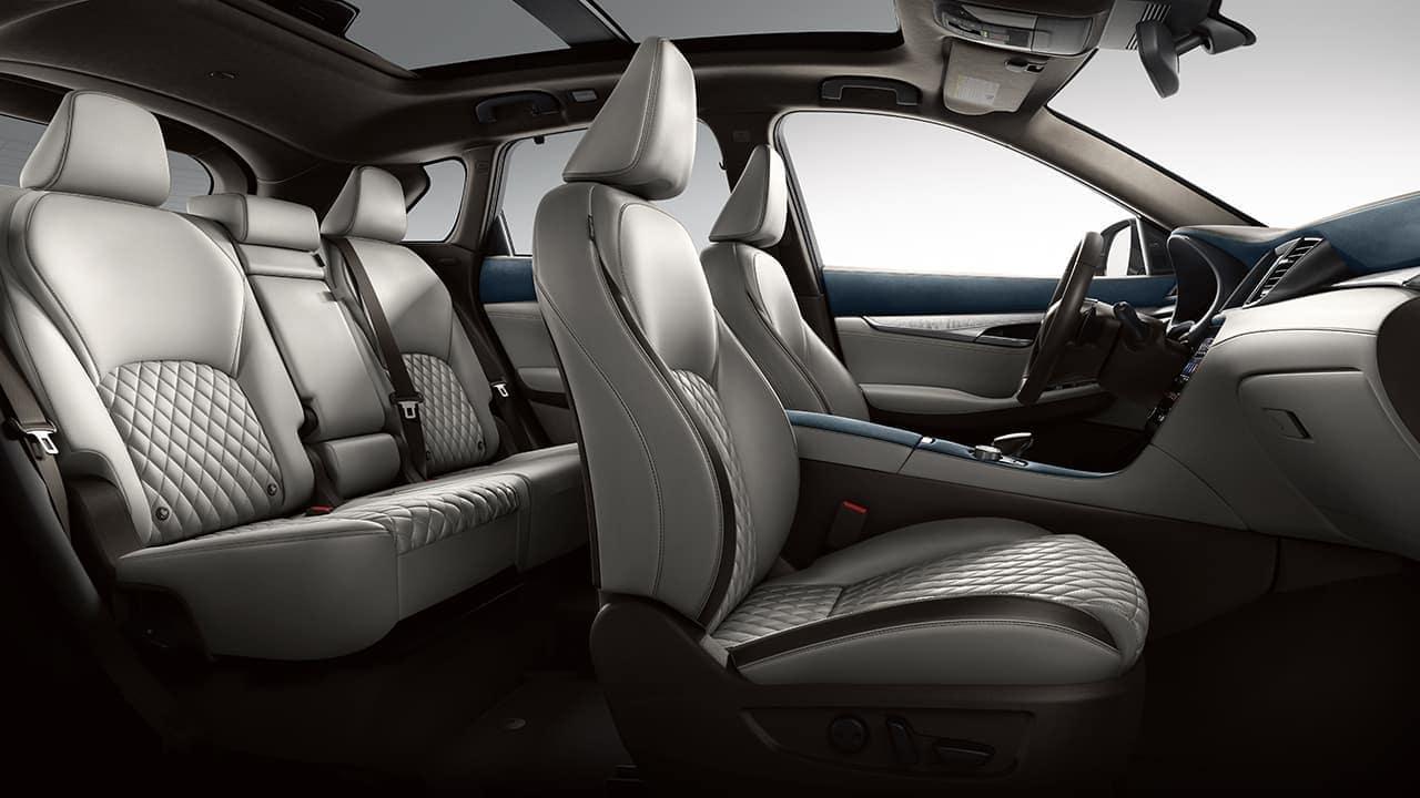 2019 INFINITI QX50 interior in grey leather