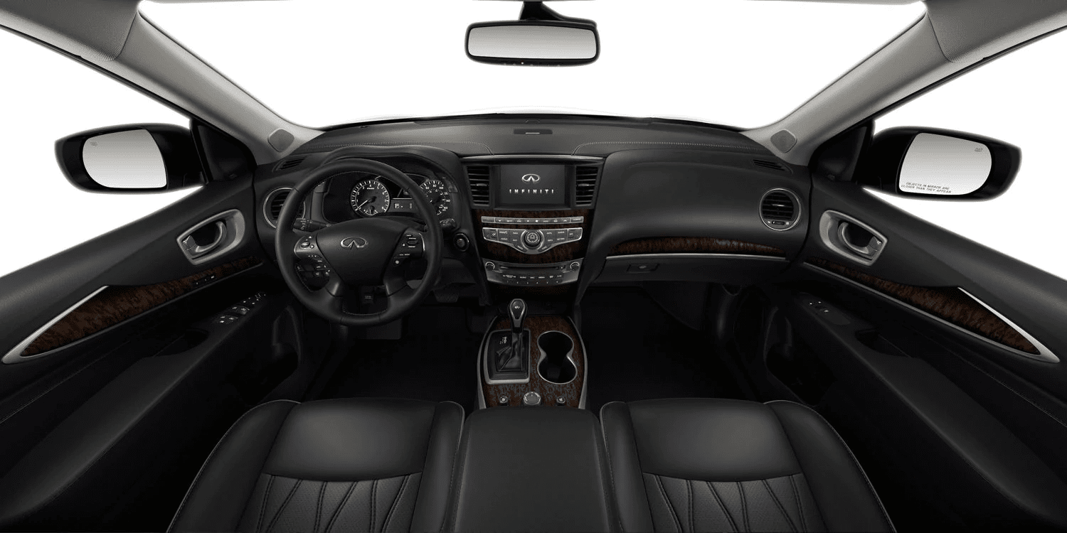 2019 INFINITI QX60 front dashboard and leather seating