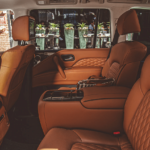 2019 INFINITI QX80 interior in brown leather