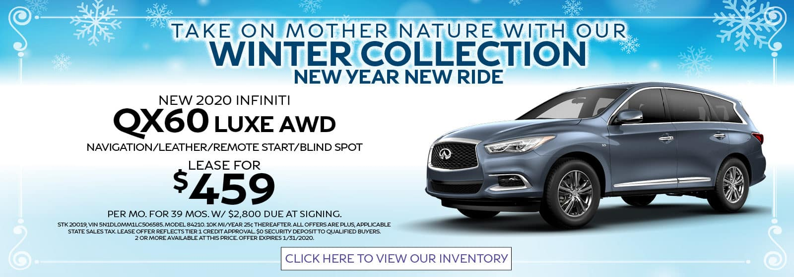 2020 Q50 Sport AWD Lease for $439
