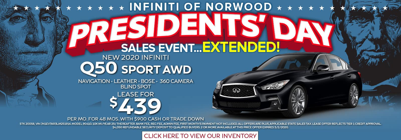 President's Day Sale Extended Lease a Q50 Sport for $439