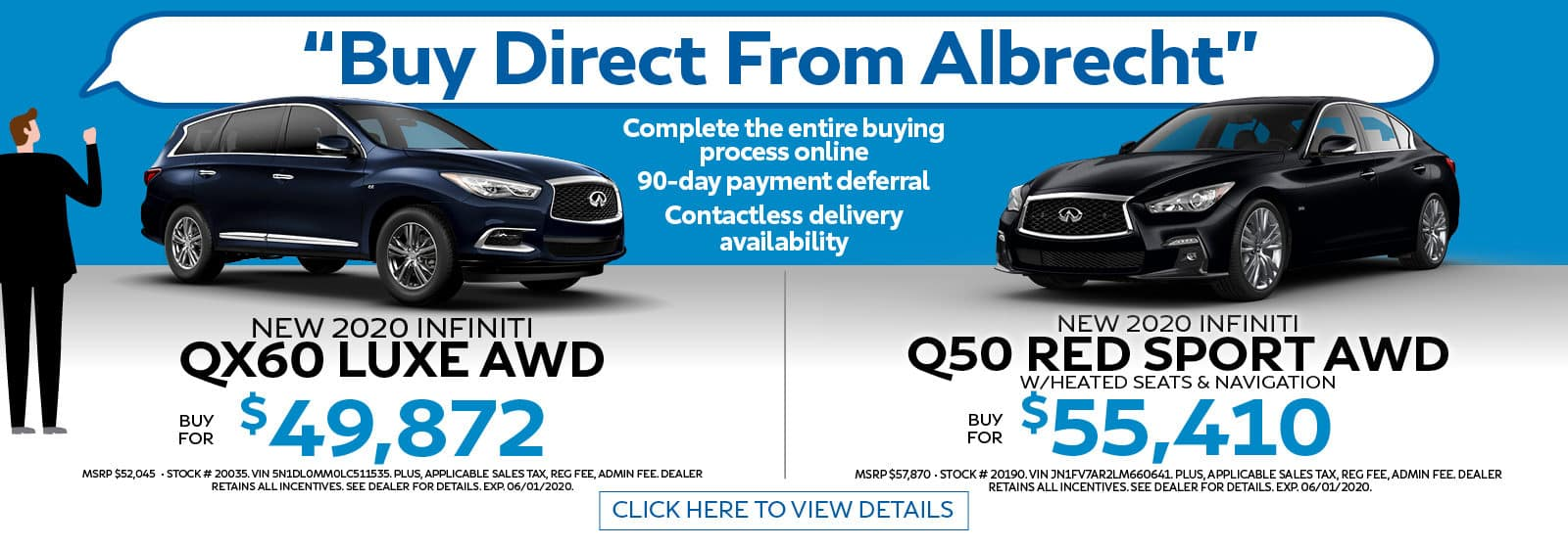 Buy Direct from Albrecht Complete the Entire Buying Process Online
