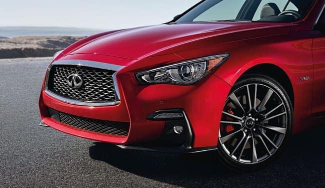 The 2019 INFINITI Q50 has a sleek exterior design