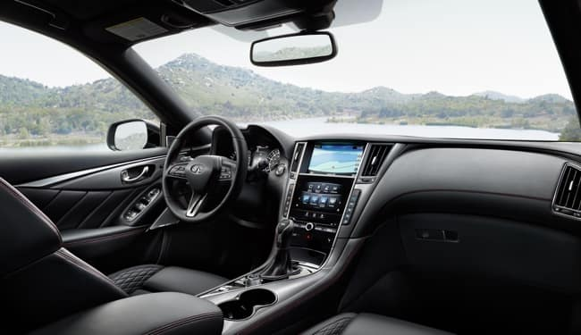 The interior of the 2019 INFINITI Q50 is just as luxurious as the exterior