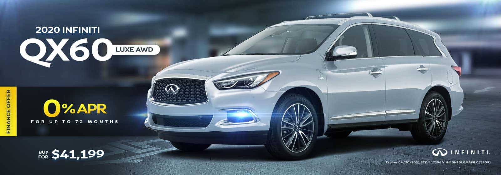 2020 QX60 Luxe AWD April 2021 Offers