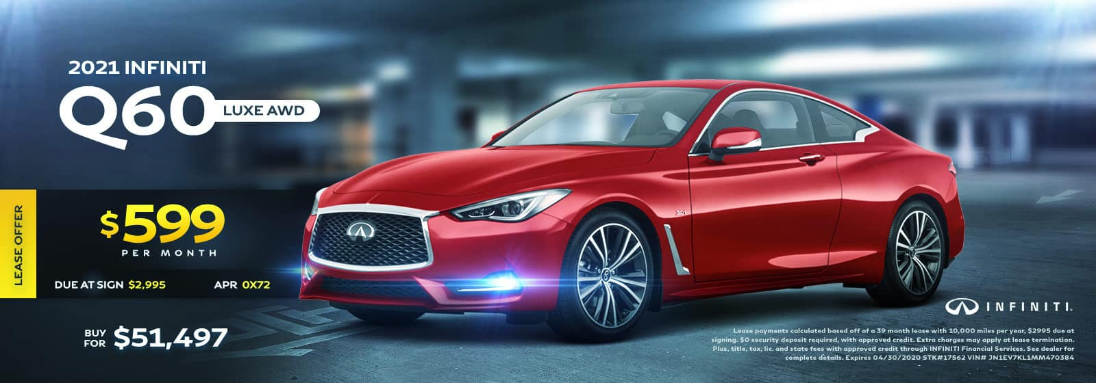 2021 Q60 Luxe AWD April 2021 Offers