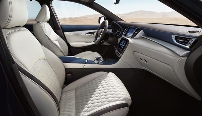 The 2019 INFINITI QX50 has a luxurious interior