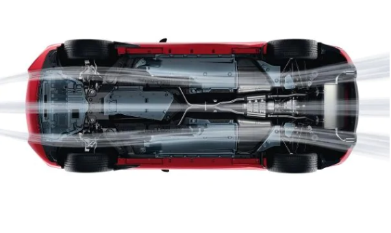 Image showing the airflow under a 2020 Q60