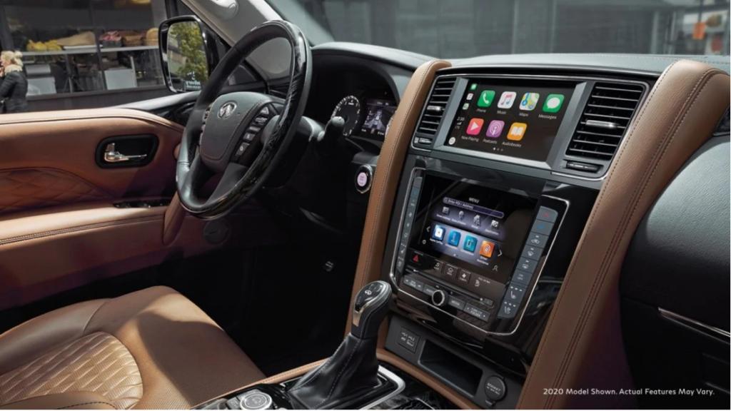 2020 qx80 Navigation system interior