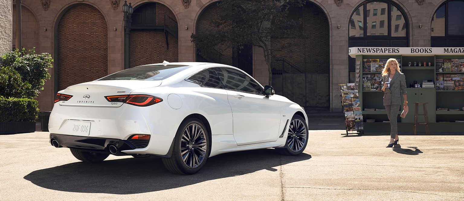 a side view of the 2020 Q60