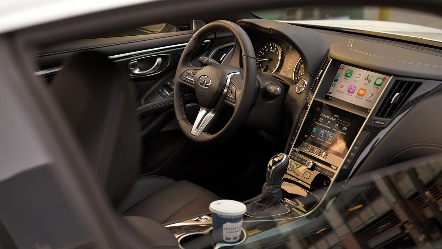 Interior view of the 2020 Q60
