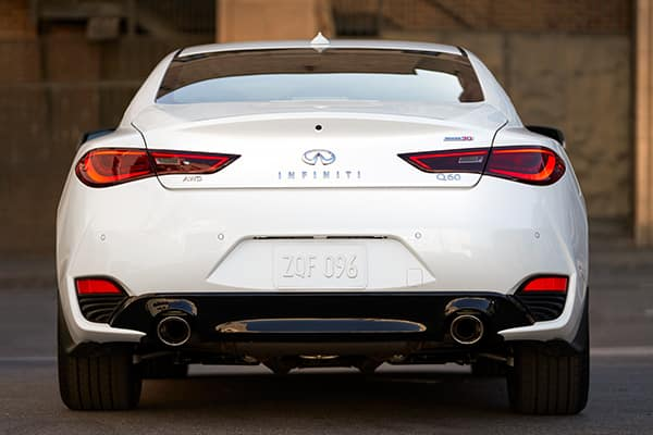 a back view of the 2020 Q60