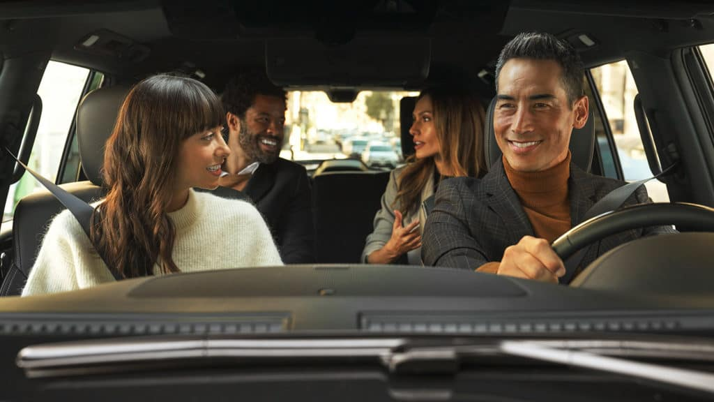 Family inside of the 2020 QX80