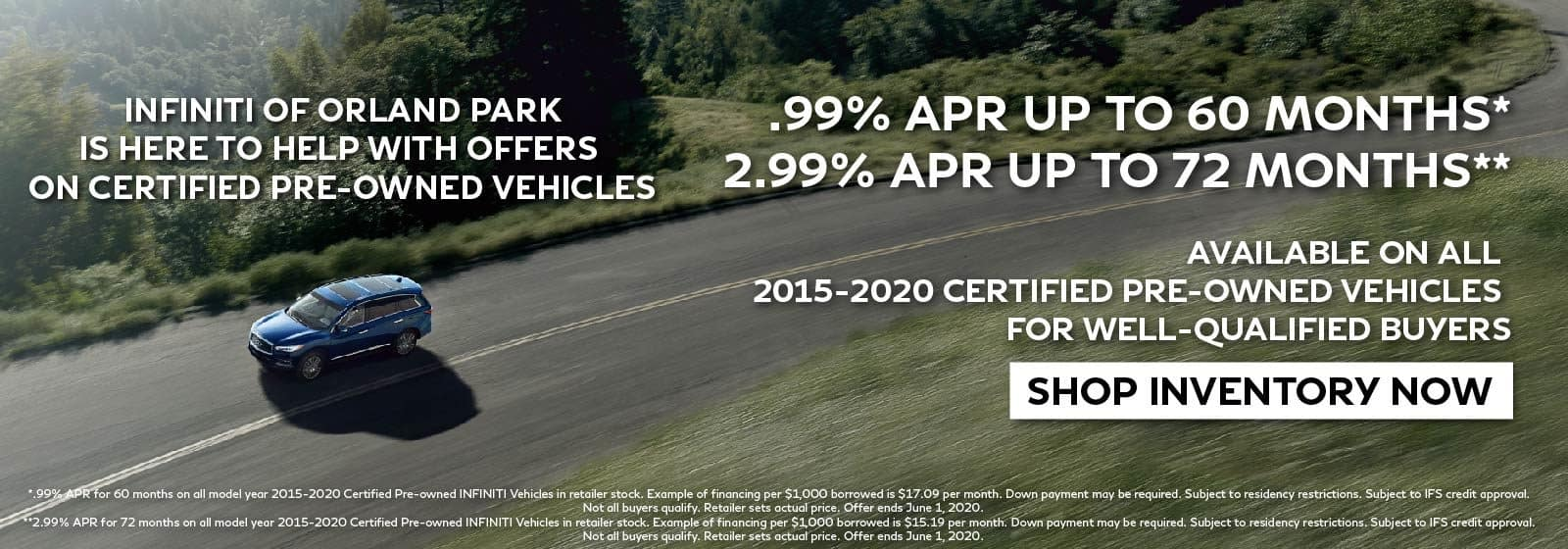 INFINITI or Orland Park. CPO Offer.