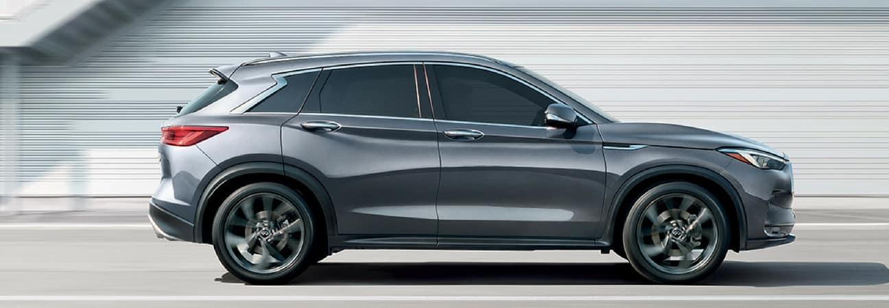 Charcoal 2019 INFINITI QX50 in profile