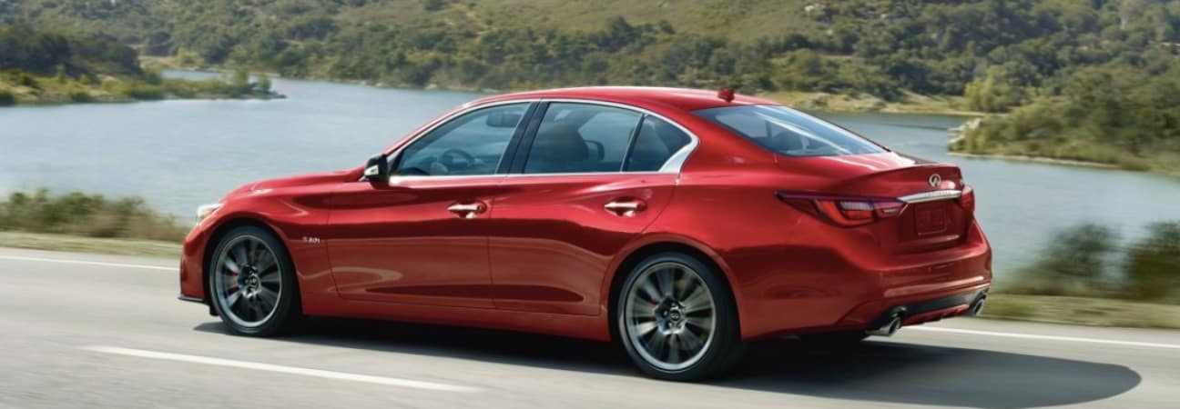 2019 INFINITI Q50 driving down highway