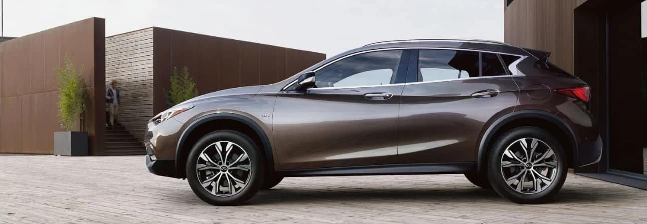 2019 INFINITI QX30 parked in driveway