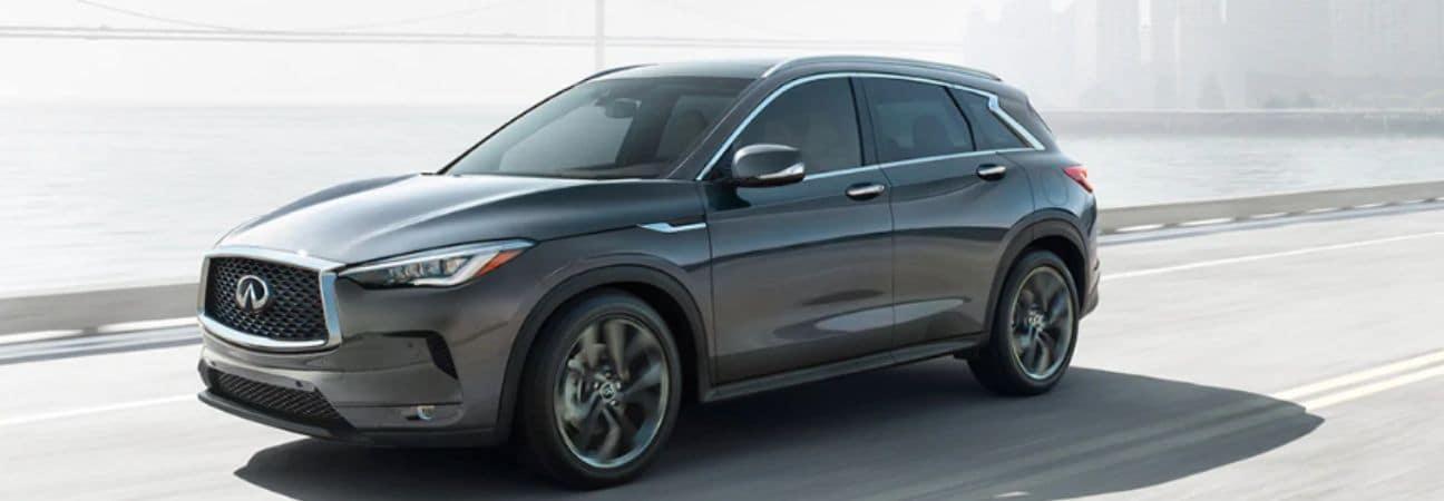 INFINITI grey SUV