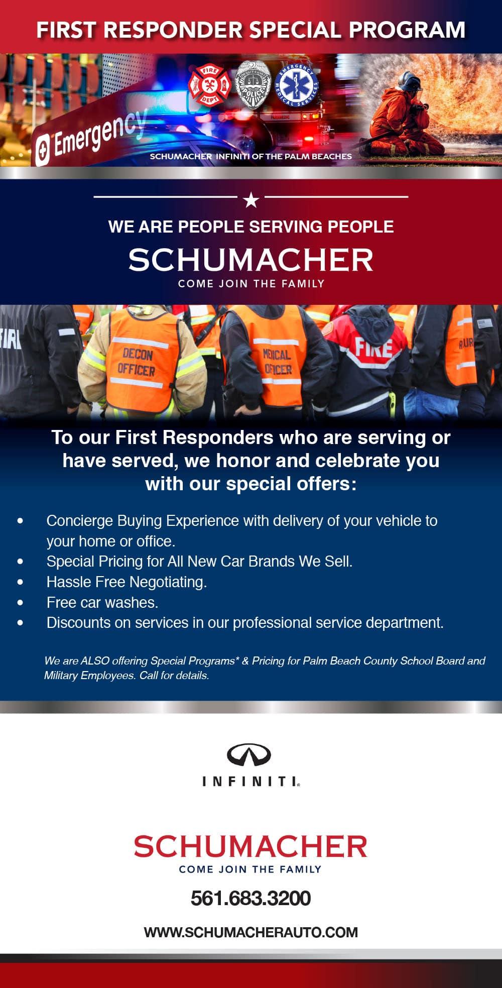 First Responder Program | INFINITI of the Palm Beaches