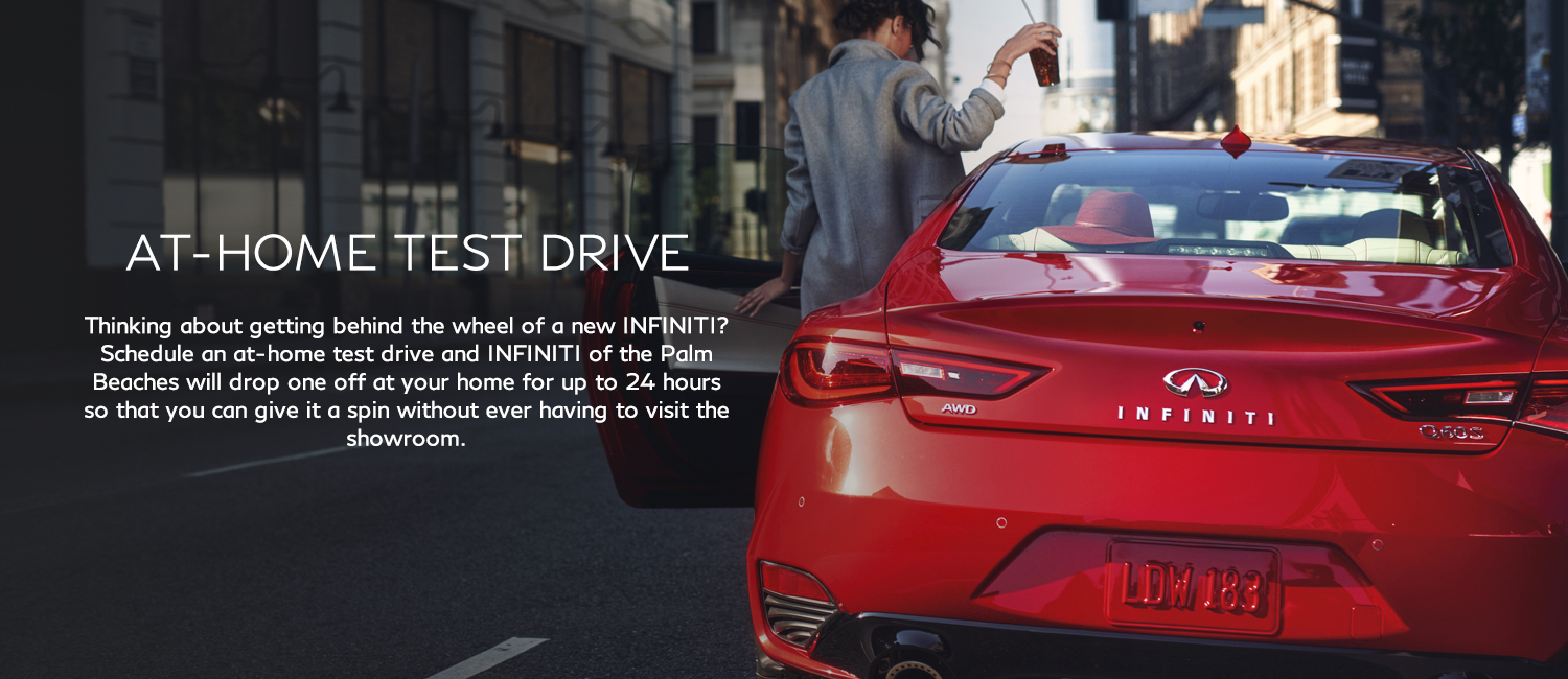 At home test drive. Schedule an at-home test drive and will drop one off at your home for up to 24 hours.