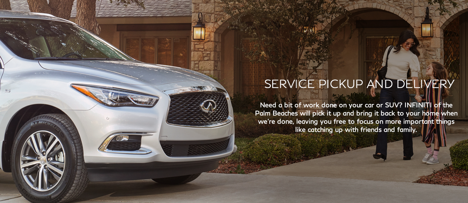 Service Pickup and delivery. We will pick it up and bring it back to your home when we're done.