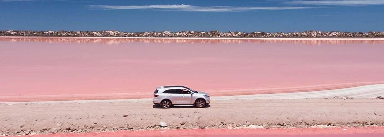 Kia Sorrento On Pink Sands