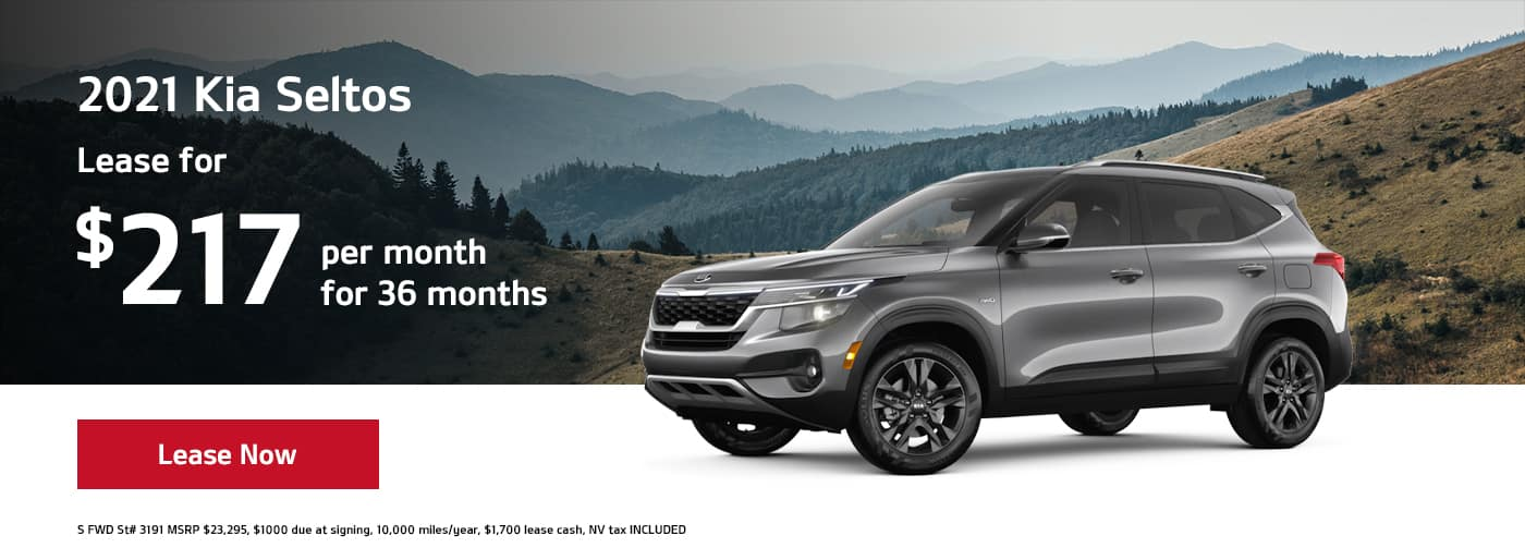 Lease a 2021 Seltos for $217 per month for 36 months
