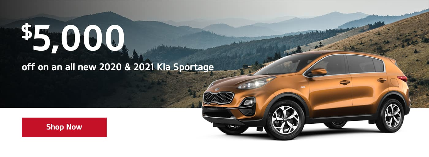 $5,000 off on an all new 2020 & 2021 Sportage